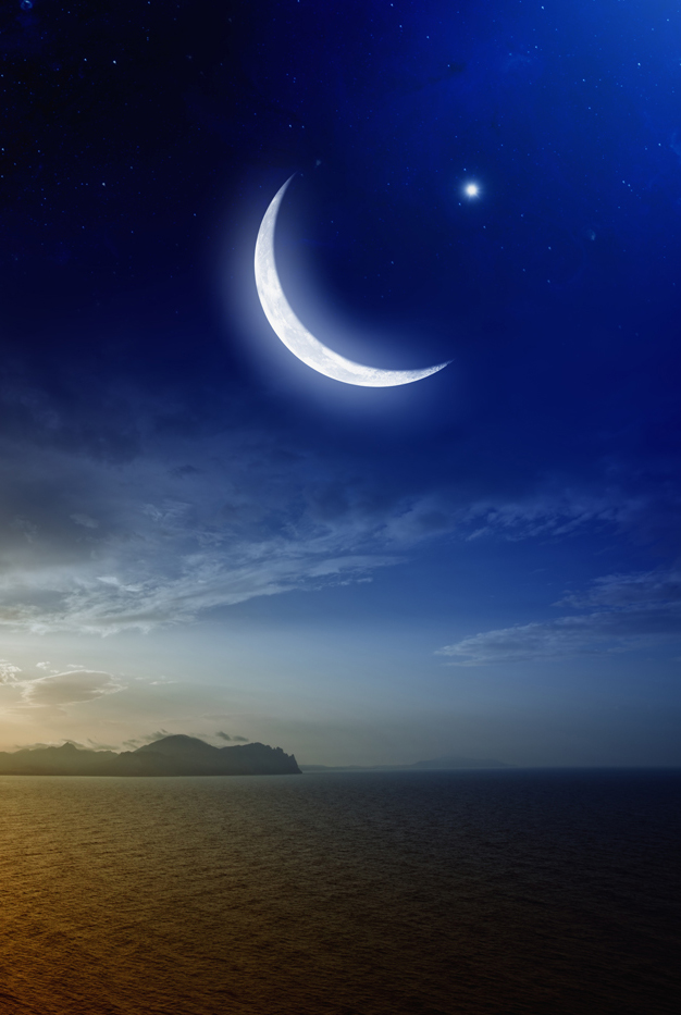 Moon crescent vertical