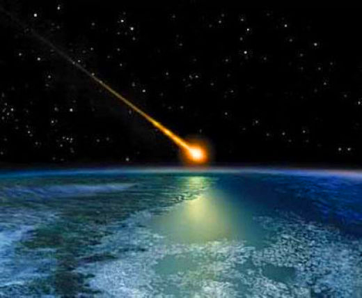 Comet strikes Earth