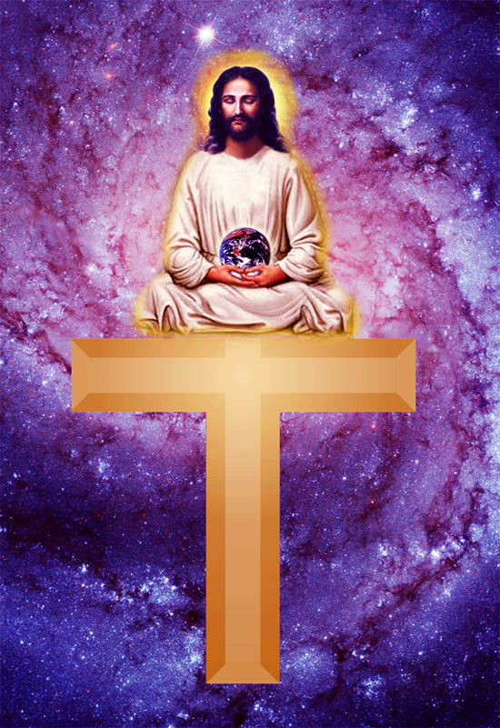 Jesus on Tau Cross
