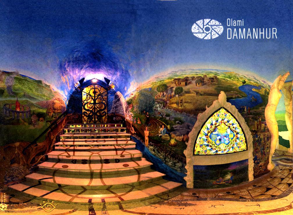 Damanhur Labyrinth Entrance