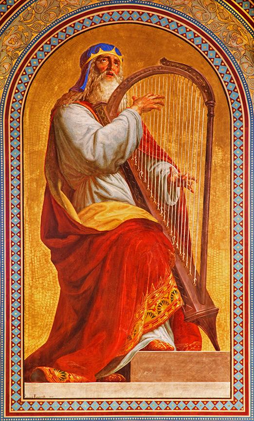 King David with Harp Vienna