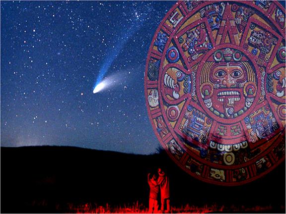 Mayan Calendar with comet
