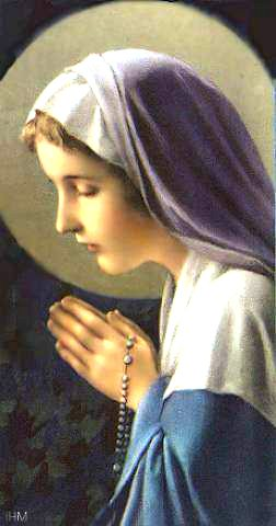 Mary in prayer