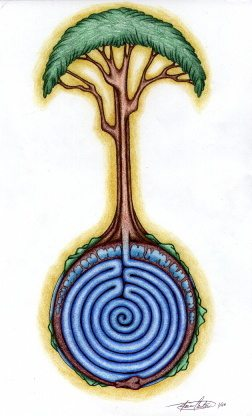 Tree of LIfe with labyrinth