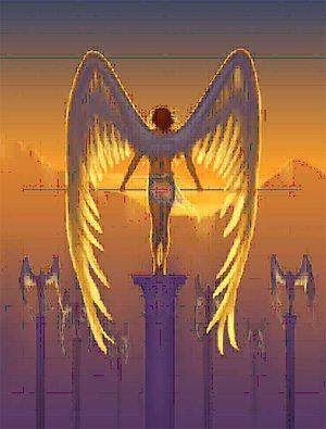 angel on a pedestal